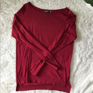 Red Valette Long Sleeve Dolman Sweater S